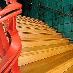Treppe in der Konsumzentrale Industriestrasse Leipzig Bild1