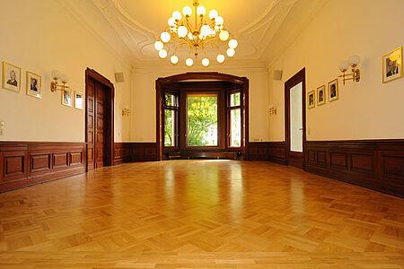 Parkett im Saal der Akademie der Wissenschaften Leipzig