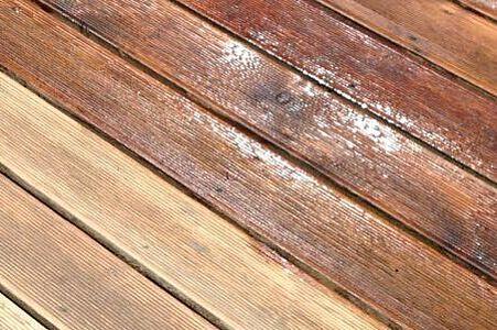 Holzterrasse geschliffen und teilweise geölt