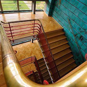 Treppe in der Konsumzentrale Industriestrasse Leipzig Bild 2