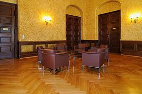 Parkettboden im Saal der SAW