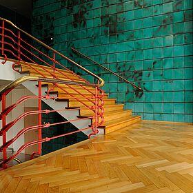 Treppe in der Konsumzentrale Industriestrasse Leipzig Bild 3