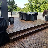 Eiche Terrasse nach dem Schleifen