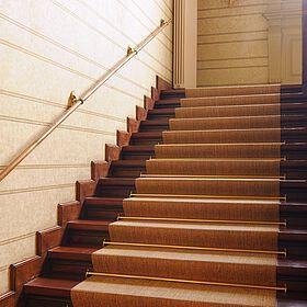 Bodenbelag auf einer Treppe in der Sächsischen Akademie der Wissenschaften Leipzig, Bild 3