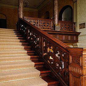 Bodenbelag auf einer Treppe in der Sächsischen Akademie der Wissenschaften Leipzig, Bild 2